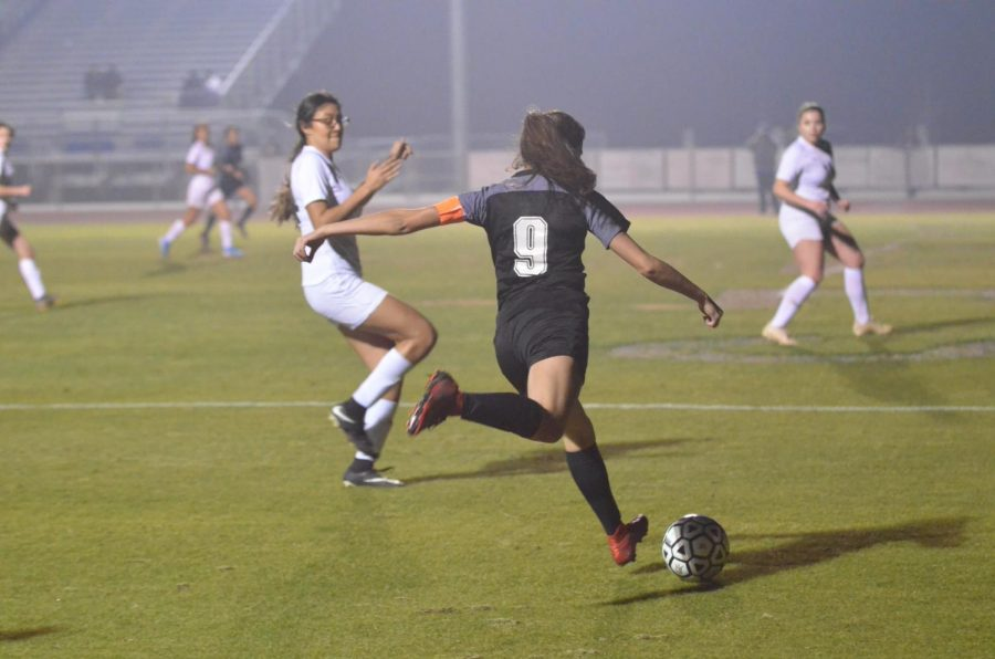 Leslie Figueroa prepares to strike the ball. Photo by Julianna Colado