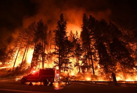 The recent blazes along the west coast are gigantic and destructive.  Photo by the La-ist