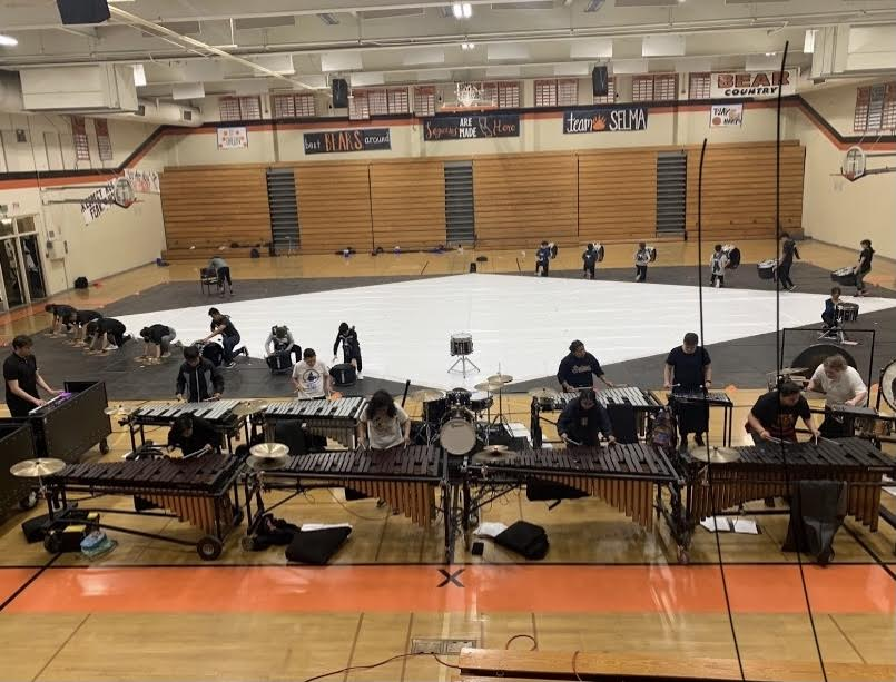 One of the last Winter Percussion rehearsals before Covid.  Photo provided by Jessica Contreras