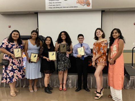 Those pictured (L to R): Amiannah Martinez, Chloe Mendoza, Ari Matias Perez, Juliana Ramirez, Daniel Acosta, Sydney Harrell, Dashrit Pandher